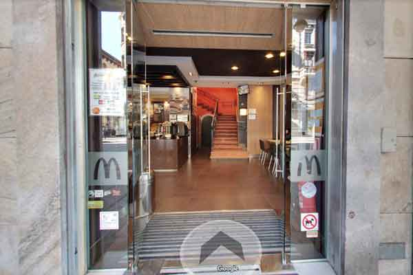 esempio tour virtuale google fast food