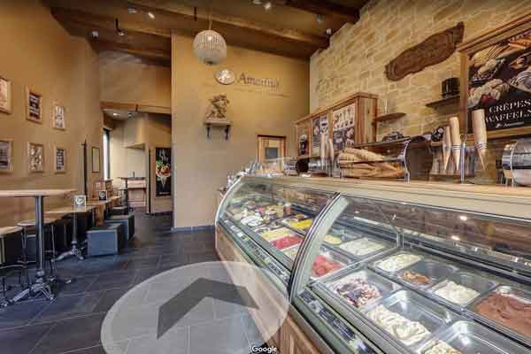 esempio tour virtuale google gelateria